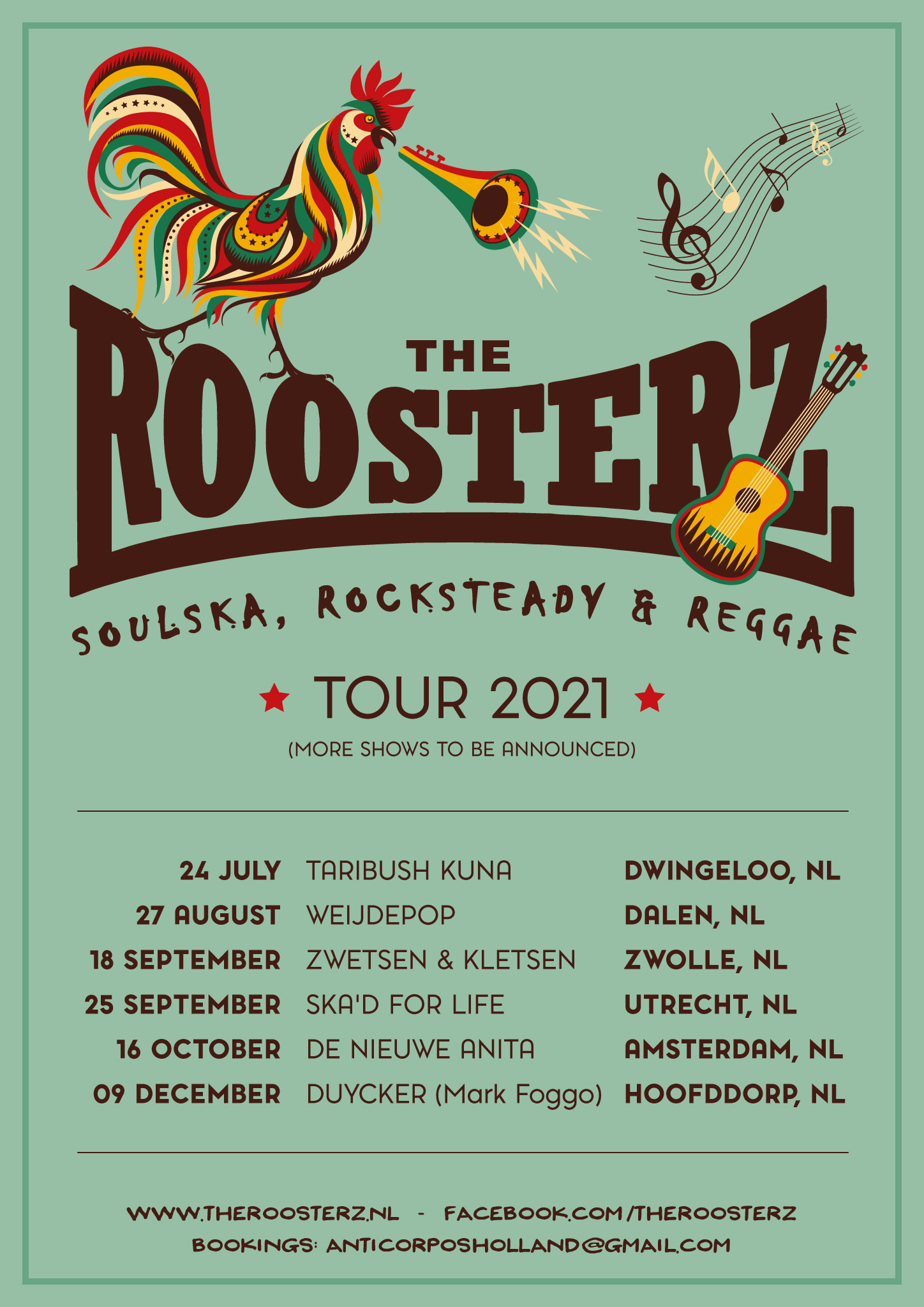 The Roosterz Tour Poster 2021