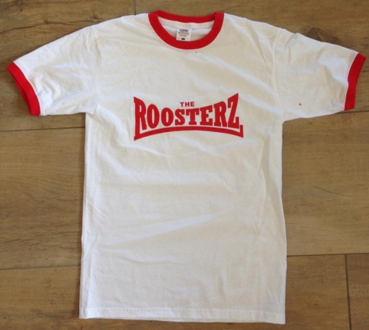 White & Red Men's Shirt